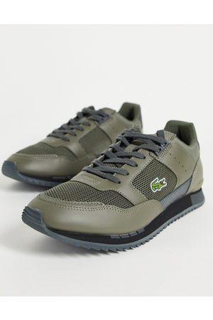 Lacoste Partner Piste running sneakers in khaki