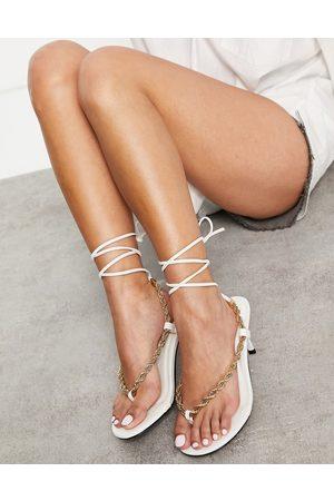 Public Desire Amarlie heeled sandals with chain detail in