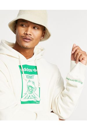 adidas X Disney hoodie with Kermit the Frog print in off