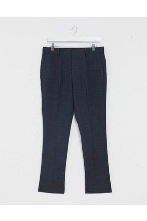 New Look Slim cropped suit pants in navy