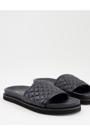 WALK LONDON Ronny quilted slide sandals in leather