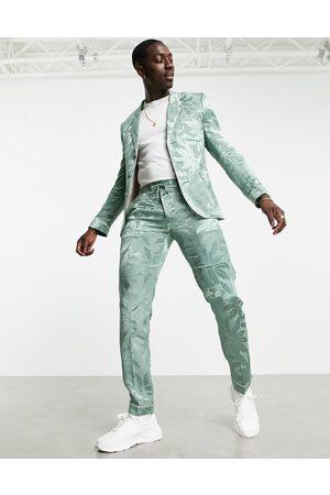 ASOS Slim floral sateen pajama suit pants in