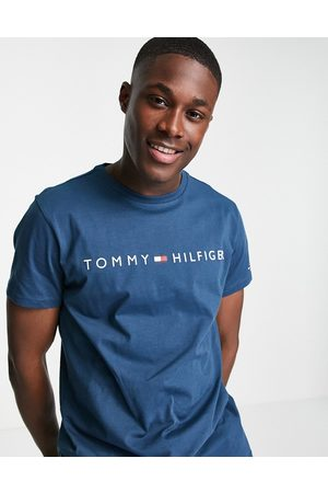 Tommy Hilfiger Lounge t-shirt with all over logo in navy