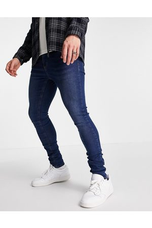 LDN DNM Super skinny fit jeans in blue wash-Blues