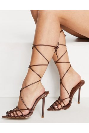 SIMMI Shoes Simmi London Felicia caged heeled sandals in