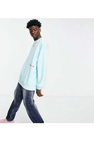 Reclaimed Inspired cutabout sweatshirt in blue-Blues