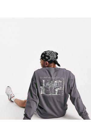 Reclaimed Inspired graphic sweatshirt in charcoal-Grey