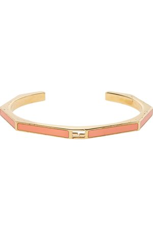 Fendi Enamel Baguette Open Cuff Bracelet S