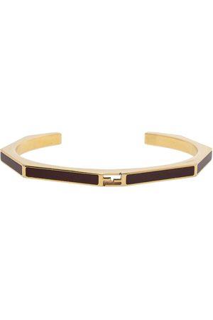 Fendi Burgundy Enamel Baguette Bracelet S