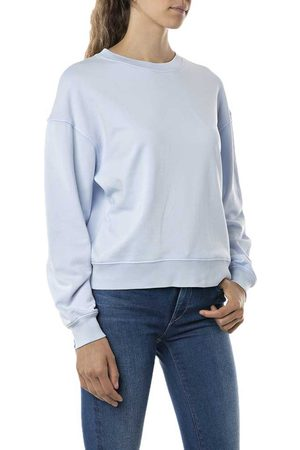 Replay W3551e.000.23158g Sweatshirt XS Azure Pastel