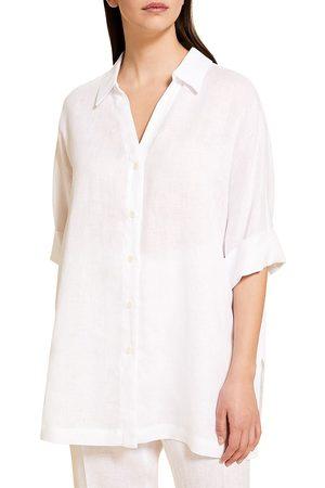 Persona by Marina Rinaldi Women's Basilica Linen Shirt - - Size 18W