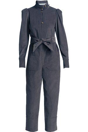 Anna Mason Women's Star Belted Corduroy Jumpsuit - Jean - Size 10