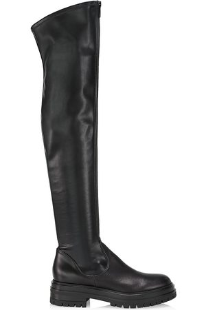Gianvito Rossi Women's Marsden Over-The-Knee Stretch Vegan Leather Boots - - Size 11
