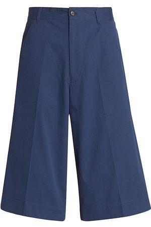 Kenzo Men's Casual Long Cotton Shorts - Ink - Size 40
