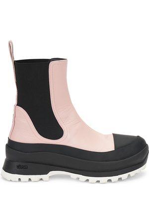Stella McCartney Women's Trace Vegetarian Leather Chelsea Rain Boots - Rose Ash - Size 6