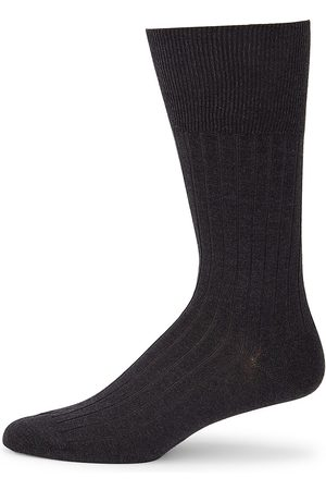 Marcoliani Men's Cotton Dress Socks - Charcoal