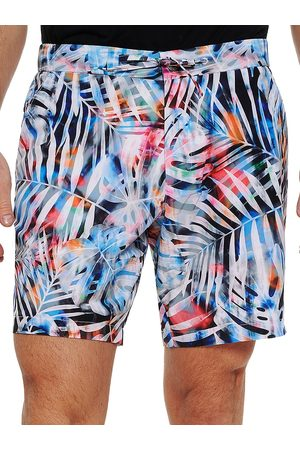 Robert Graham Men's Beach to Bar Tie-Dyed Palm Shorts - Size 40