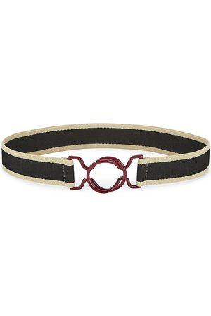 Isabel Marant Women's Elie Striped Web Belt - - Size Medium