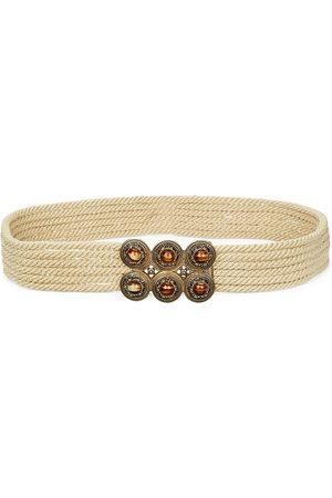 Etro Women's Bejeweled Woven Belt - - Size XS