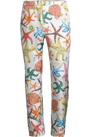 VERSACE Men's Trésor de la Mer Silk Pajama Bottoms - Multi - Size Small