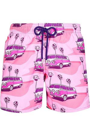 Vilebrequin Men's On The Road Swim Trunks - Rose Litchi - Size Small