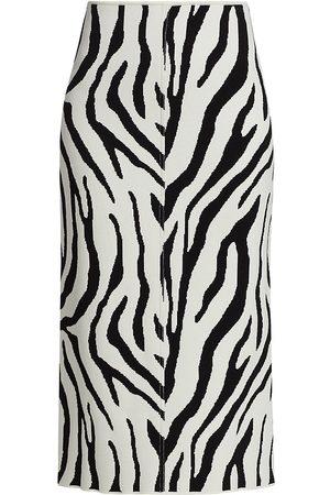 Sportmax Women's Ribes Zebra-Print Knit Pencil Skirt - - Size Medium