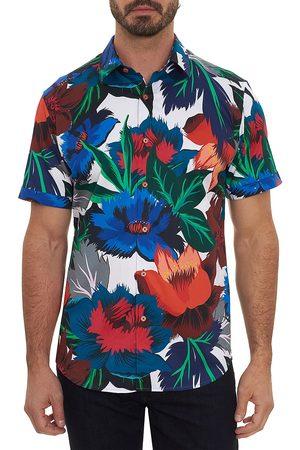 Robert Graham Men's Floral Confusion Short-Sleeve Shirt - Size Small
