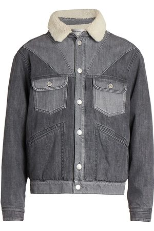 Isabel Marant Men's Jarepa Western Denim Trucker Jacket - Grey - Size Small