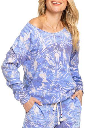SOL ANGELES Women's Fern-Print Sweatshirt - Palm Print - Size XS