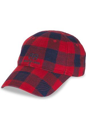 Balenciaga Men's Flannel Baseball Cap - - Size Large
