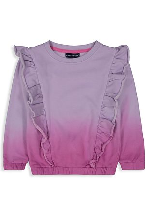 Andy & Evan Little Girl's Ruffled Ombre French Terry Sweatshirt - Ombre - Size 2