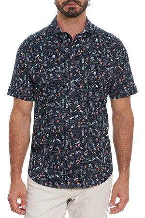 Robert Graham Men's Cocktail Recipe Short-Sleeve Shirt - - Size Small