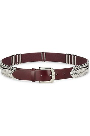 Isabel Marant Women's Tehora Leather Belt - Dark Burgundy - Size Medium