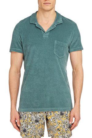 Orlebar Brown Men's Terry Polo Shirt - Sage - Size Large