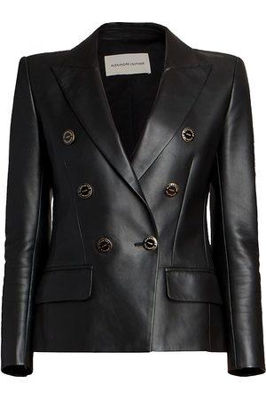 ALEXANDRE VAUTHIER Women's Leather Blazer Jacket - - Size 8