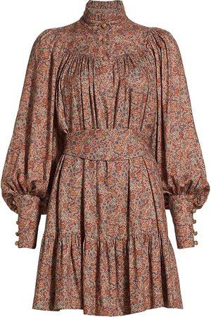 Anna Mason Women's Kasia Belted Mini Dress - Bunny Print Base - Size 4