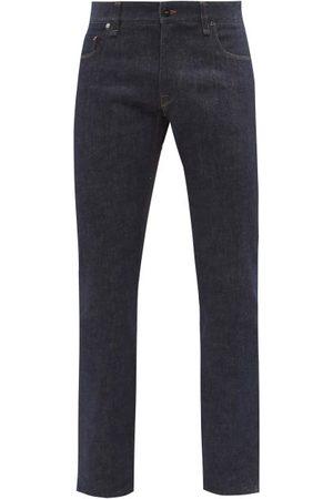 Fendi Ff-logo Pocket Slim-leg Jeans - Mens - Dark
