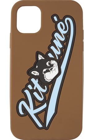 Maison Kitsuné Brown Varsity Fox iPhone 11 Case