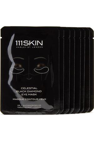 111 Skin Eight-Pack Celestial Black Diamond Eye Masks, 6 mL