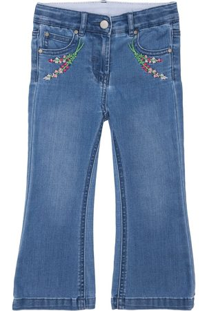 Stella McCartney Girls Flares - Embroidered Organic Cotton Flared Jeans