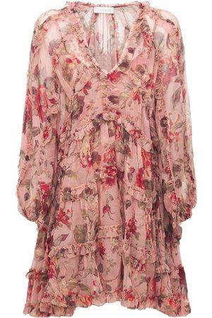 ZIMMERMANN Women Casual Dresses - Cassia Silk Chiffon Short Dress