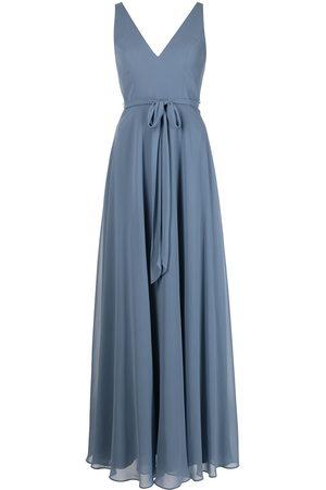 Marchesa Notte Women Sleeveless Dresses - V-neck sash belt sleeveless gown