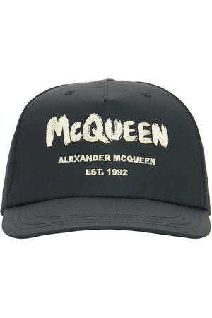 Alexander McQueen Men Caps - Graffiti Logo Nylon Baseball Cap