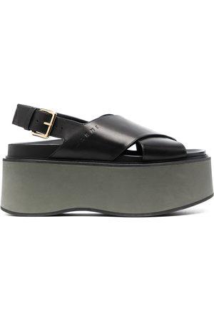 Marni Women Wedges - Criss-cross wedge sandals