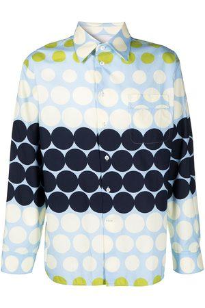 Marni Men Casual - Oversized polka dot print shirt