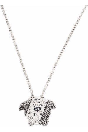VERSACE Necklaces - Crystal-embellished Medusa necklace