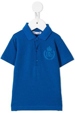 Dolce & Gabbana Polo Shirts - Logo-print short-sleeved polo shirt