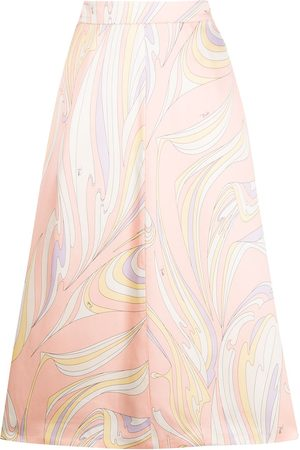 Emilio Pucci Vortici-print mid-length skirt