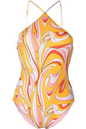 Emilio Pucci Vortici print swimsuit