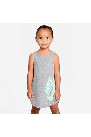 Nike Girls' Toddler Futura Tank Dress in Grey/Dark Heather Grey Size 2 Toddler 100% Cotton/Knit